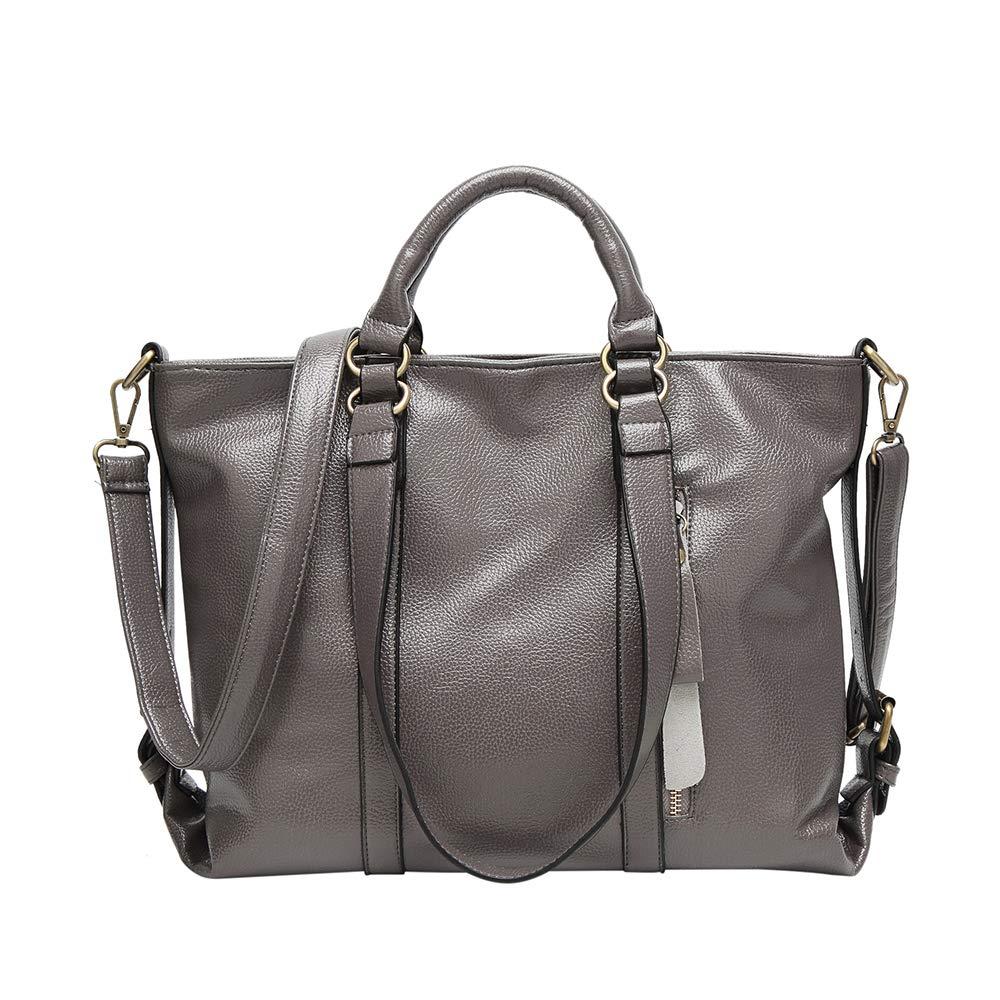 Messenger Shoulder Bag,Women Shoulder Tote Satchel Bag Lady Messenger Purse Top Handle Hobo Handbags (grey)