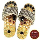 Relax Reflexology Sandals | Powerful Natural Stone Acupressure Slipper | Shiatsu Foot Massager | Men 7 Women 8 | 73.6