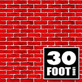 Red Brick Wall Party Backdrop | 4 Foot x 30 Foot | Party Supplies Decoration | Background for Holiday Decoration (4' x 30')