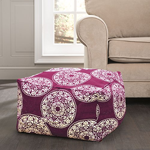 Premium Quality Ottoman Rustic Pouf- Excellent Construction- Different Color & Pattern Combinations- Grey, Red & Navy Blue W/ Moroccan Designs- Comfortable & Soft Fabric- Perfect Home Decor