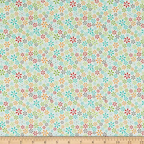 - Riley Blake Designs Riley Blake Farm Girl Vintage Floral Bleached Denim Aqua, Fabric by the Yard