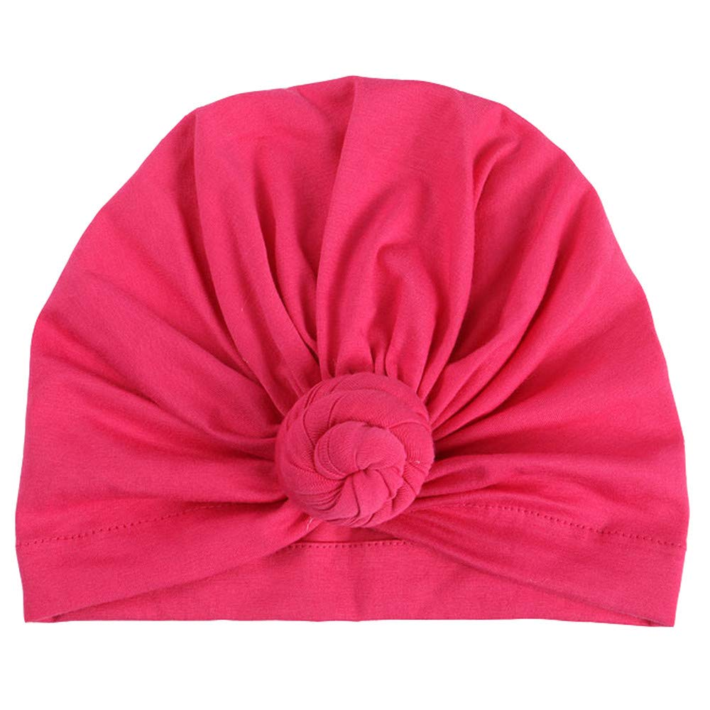 Outtop(TM) Baby&Mom&Dad Headband Newborn Girls Boys Knotted India Hat Cotton Sleep Cap Headwear Hat (Hot Pink -Mom) by Outtop(TM) (Image #3)