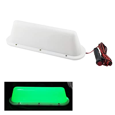 Green LED 12V Car Taxi Cab Roof Top Sign Light Lamp Magnetic with 3m Cigarette lighter power cords: Automotive