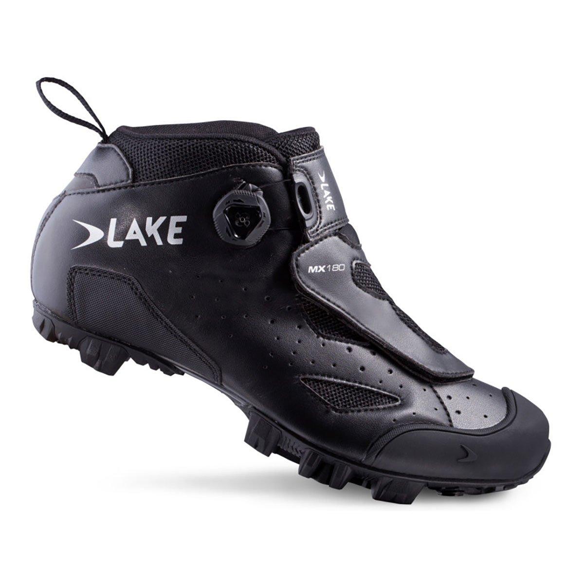 湖mx180 Mountain靴 B019P4RILA 39|ブラック ブラック 39