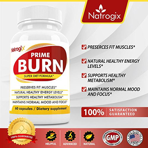 Natrogix Super Fat Burner for Weight Loss, Muscle building, Metabolism Boosting, Focus Enhancing, with Raspberry Ketone, Green Coffee Bean, Garcinia Cambogia & Green Tea Extract (60 Veggie Capsules)