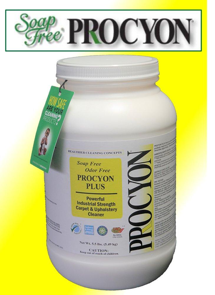 1 Each- 5.5 lb. Jar - Soap Free PROCYON PLUS Powder Carpet Cleaner