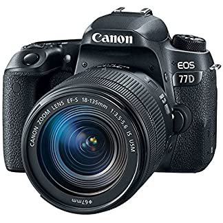 Canon EOS 77D 24.2MP Digital SLR Camera + EF-S 18-135 mm 3.5-5.6 is USM Lens with 16 GB Card Inside and Camera Case 12