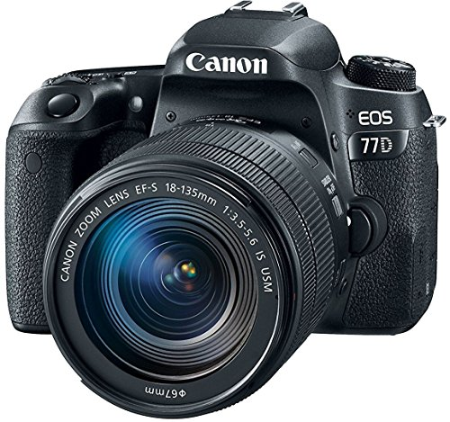 Canon EOS 77D 24.2MP Digital SLR Camera + EF-S 18-135 mm 3.5-5.6 is USM Lens with 16 GB Card Inside and Camera Case 1