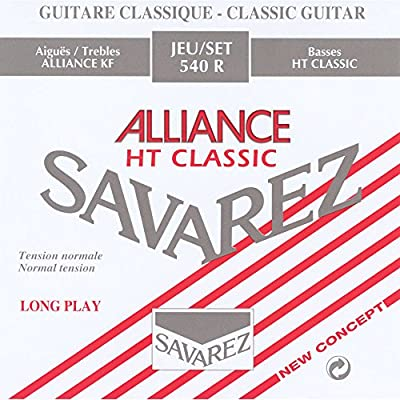 Savarez 540R Alliance Classical Guitar Strings, Standard Tension, Red Card from Savarez Strings