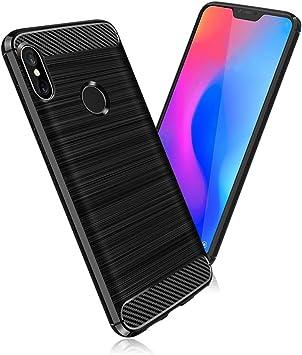 SDTEK Funda para Xiaomi Mi A2 Lite [Fibra de Carbon TPU] Case ...