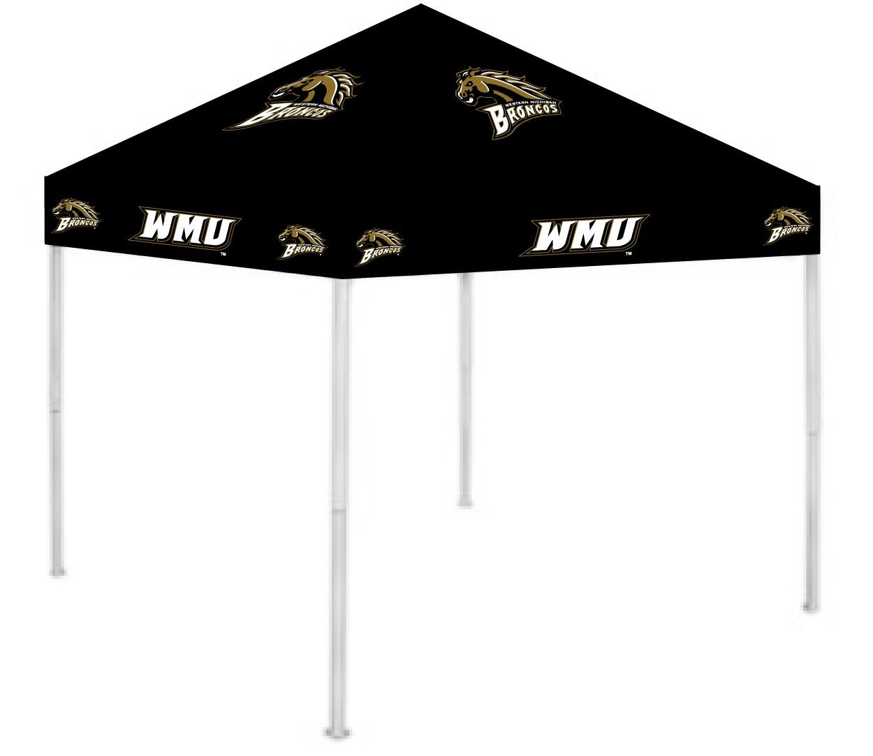 Rivalry RV434-5000 Western Michigan Canopy B002QWHLI4 9 x 9|Western Michigan Broncos Western Michigan Broncos 9 x 9