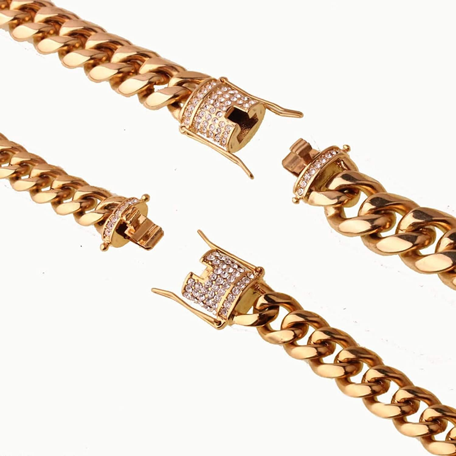 316L Stainless Steel Curb Chain Necklace for Men Aokarry Men Necklace Chain