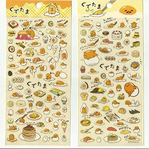 ICRI-SHOP 1 Sheet Kawaii Cute Gudetama Egg Decorative Adhesive Stickers Dairy Album Decor Phone Bottle DIY Stick Label Kids Gift