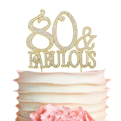 80 Fabulous GOLD Cake Topper
