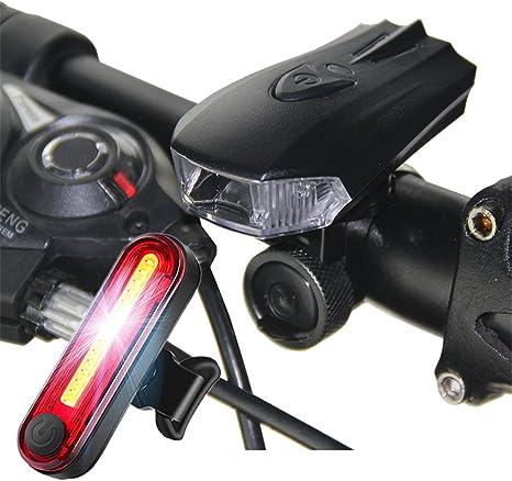 SADSF Luz de la Bici Night Riding Mountain Carga USB Lámpara de ...