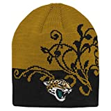NFL Girls 7-16 Two Tone Cuffless Hat-Black-1 Size, Jacksonville Jaguars