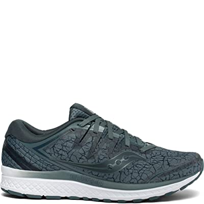 Saucony Men's Guide ISO 2 Running Shoe, Steel Quakemustard, 9.5 M US | Road Running