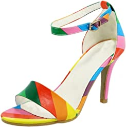 a1d3c67af31190 COOLCEPT Women Sexy Stiletto High Heels Strapy Dress Sandals Shoes