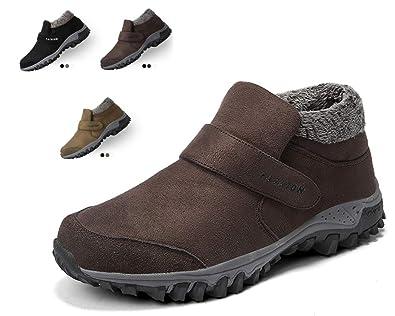 Homme Femmes Bottes Chaussures de Neige, Chaussures de Randonnée Automne Hiver  Bottes Fourrées Femmes Bottes b9a5e6af81e8