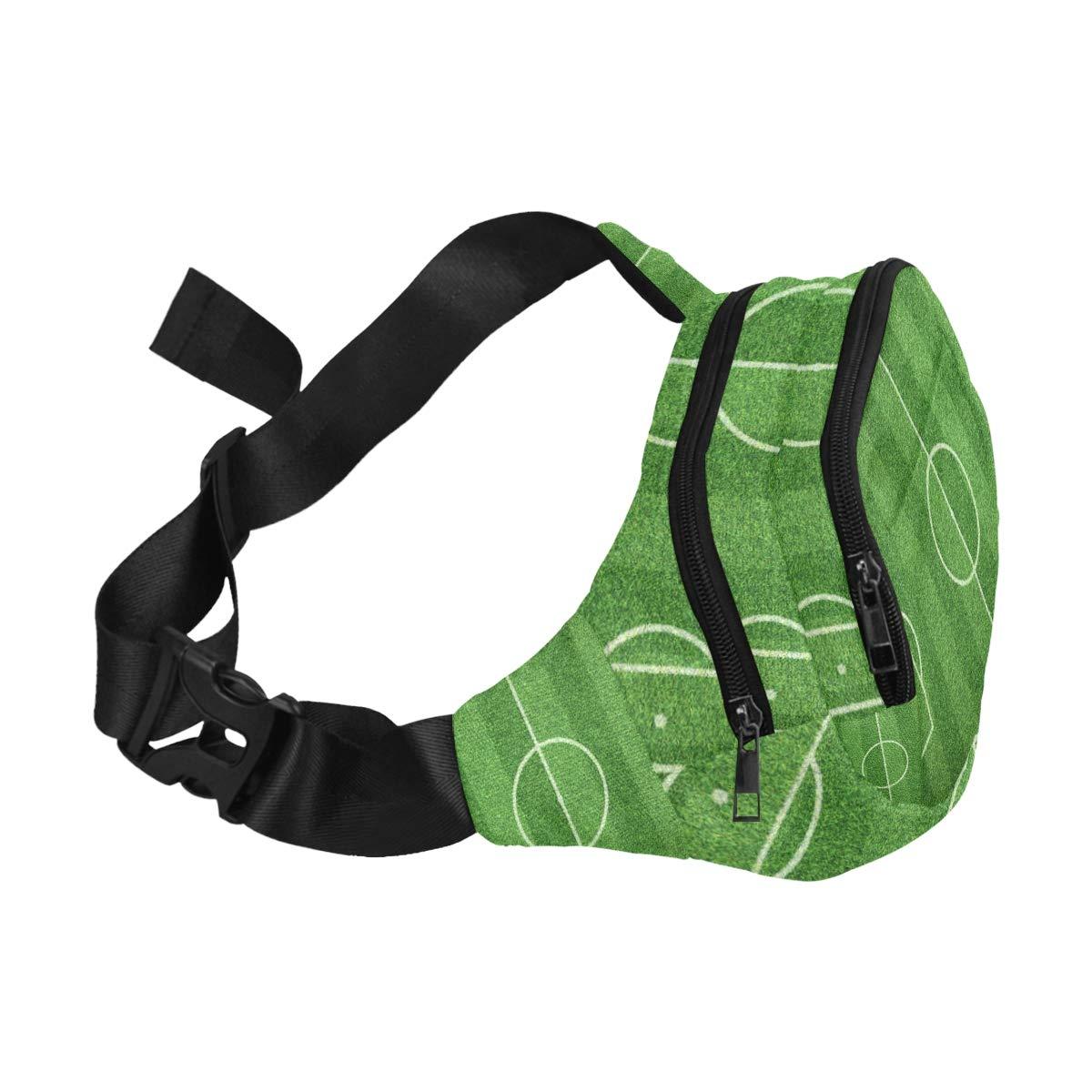 Soccer Field Football Field Fenny Packs Waist Bags Adjustable Belt Waterproof Nylon Travel Running Sport Vacation Party For Men Women Boys Girls Kids