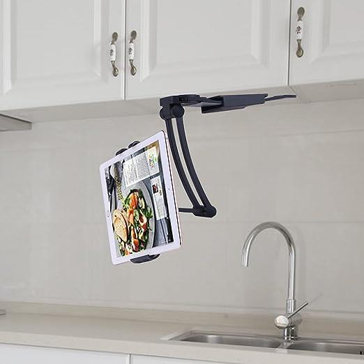 ACTOPP Küche Tablet Halterung Tablet Tischständer 2 in 1 Wandhalterung  Küche Halterung Tisch Ständer Wand Halter für Handy iPhone iPad Tablet und  mehr ...