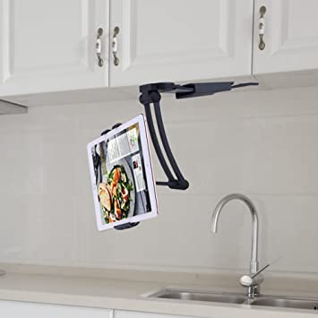 ACTOPP Küche Tablet Halterung Tablet Tischständer 2 In 1 Wandhalterung Küche  Halterung Tisch Ständer Wand Halter