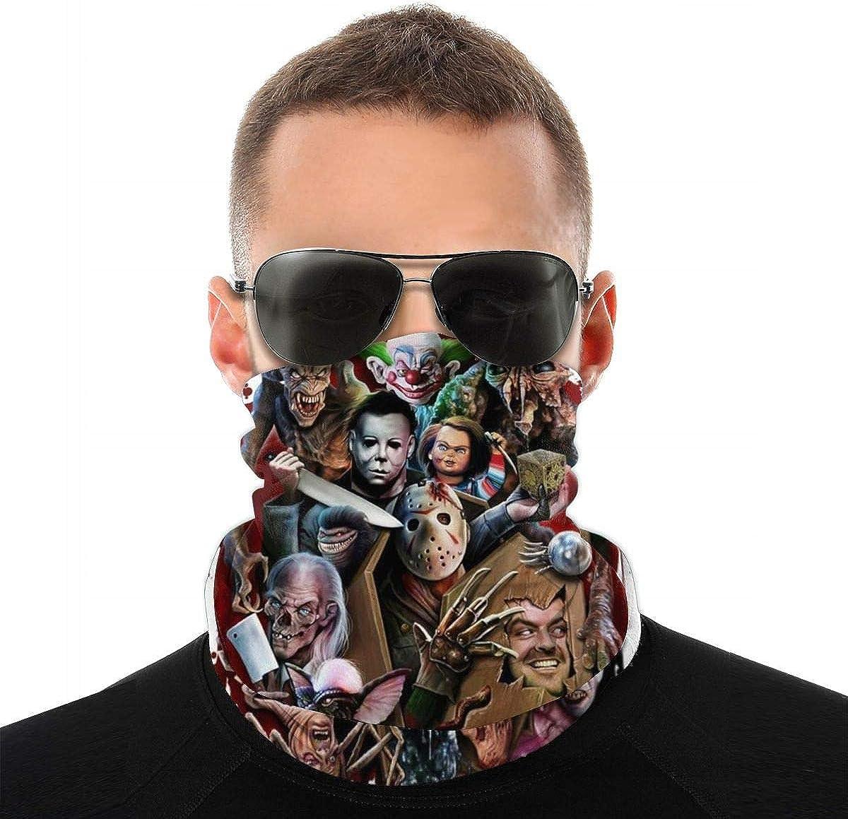 Bandana Face Mask Magic Scarf Headwrap Balaclava, Seamless Face Motorcycle Neck Gaiter Michael-Myers