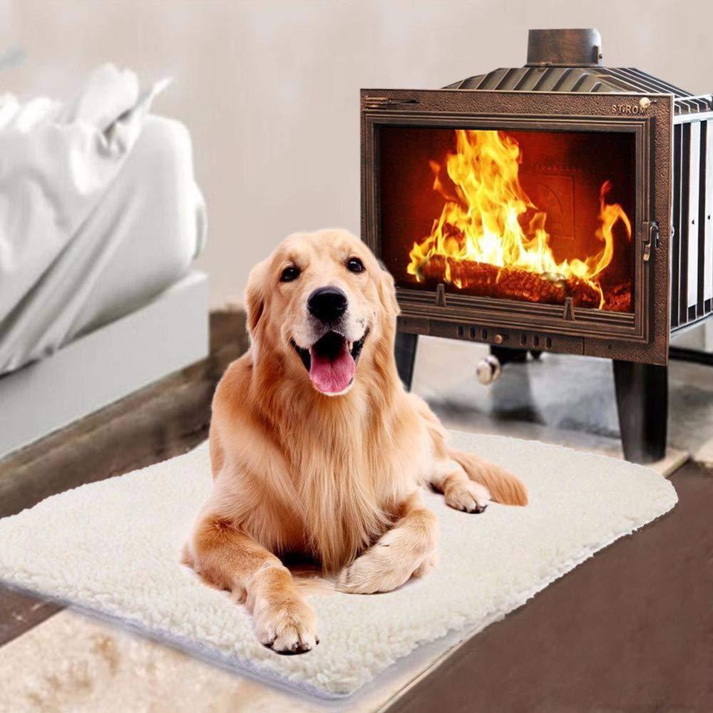JKABCD Self Heating Thermal Cucciolo di Cane Gatto Animale Domestico Lavabile Letto con Body Heat Reflecting Core Pad Ideale per Inverno Cat//Dog Bed
