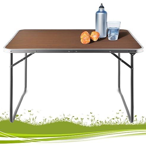 Balkontisch klappbar kunststoff  Amazon.de: Alu Campingtisch Tisch Holzoptik Gartentisch ...