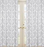 Sweet Jojo Designs 2-Piece Elizabeth Damask Window Treatment Panels