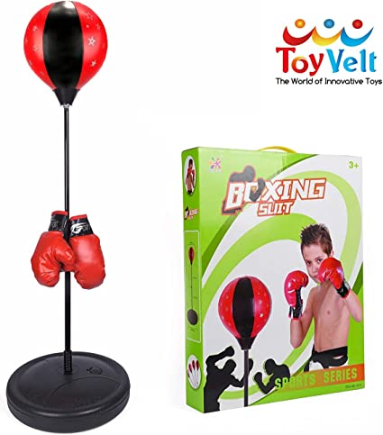 Kids Free Standing Punch Bag Ball Boxing Sport Toy Punch Play Set Gloves