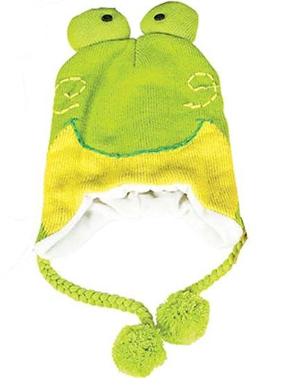 84184540f37 Amazon.com  Rhode Island Novelty Frog Hat Knit Winter Cap Toque Costume Beanie  Hat Green  Clothing
