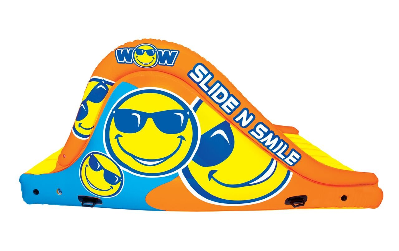 WoW Watersports 18-2000 Slide N Smile Floating 2 Lane Waterslide, 9 Feet Long