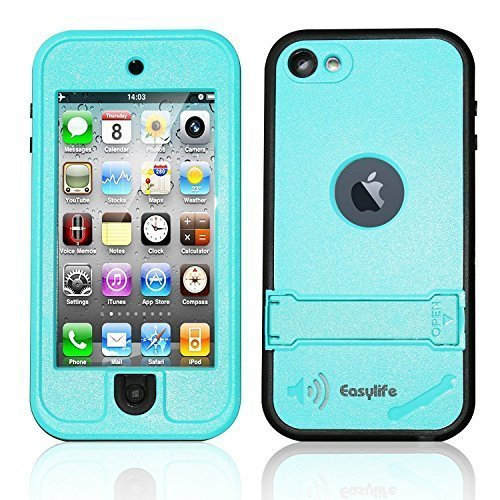 iPod 5 Waterproof Case Easylife® [New Version ] 6.6ft Underwater Waterproof Dirtproof Shockproof Snowproof Durable Full Sealed Protective Case for iPod Touch 5th Cases (Black) IP 68 Certified