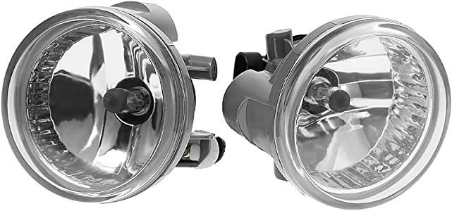 Amazon Com  Fog Lights Lamps With Bulbs For 2004 2005 2006 2007 Toyota Highlander Echo Prius