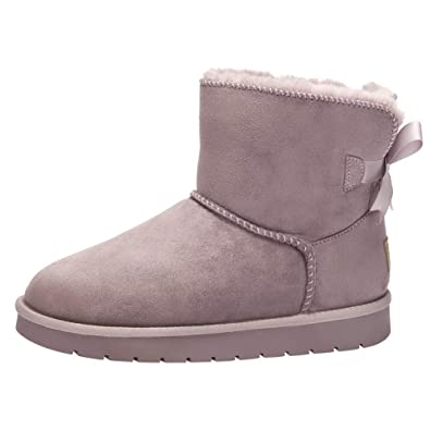 check out 4e291 30bfa CAMEL CROWN Womens Snow Boots Pull-on Fashion Winter Boot Warm Outdoor  Fluffy Lining Solid Ankle Booties Beige
