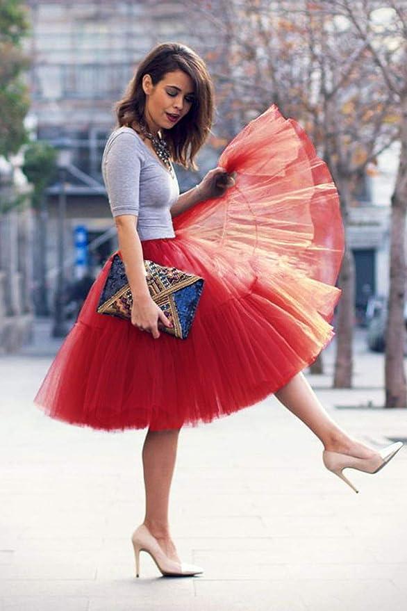 Babyonlinedress Femme Retro Style Annee 50 Vintage En Tulle Elastique Rockabilly Petticoat Tutu 18 Couleurs Jupons Vetements