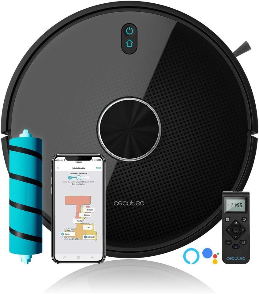 Cecotec Robot Aspirador Conga 4490. Cepillo Jalisco, 300 Minutos autonomía, 2700 Pa. App, Sensor óptico, Doble Tanque, Cepillo Especial Mascotas, Compatible 5 GHz, Mando a Distancia