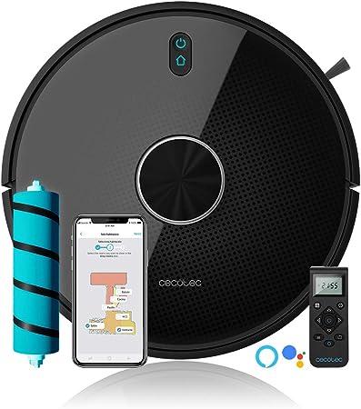 Cecotec Robot Aspirador Conga 4490. Cepillo Jalisco, 300 Minutos autonomía, 2700 Pa. App, Sensor óptico, Doble Tanque, Cepillo Especial Mascotas, Compatible 5 GHz, Mando a Distancia: Amazon.es: Hogar