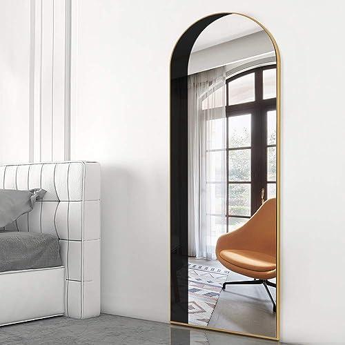 PexFix Full Length Mirror Black Arch Shadow Floor Mirror Full Body Mirror Wall Mirror Hanging/Standing