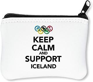 Keep Calm Support Iceland Portefeuille À Glissière Porte-Monnaie