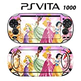Decorative Video Game Skin Decal Cover Sticker for Sony PlayStation PS Vita (PCH-1000) - Princess Friends Sparkle Belle Rapunzel Tiana