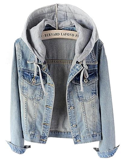 Jeansjacke mit kapuze damen