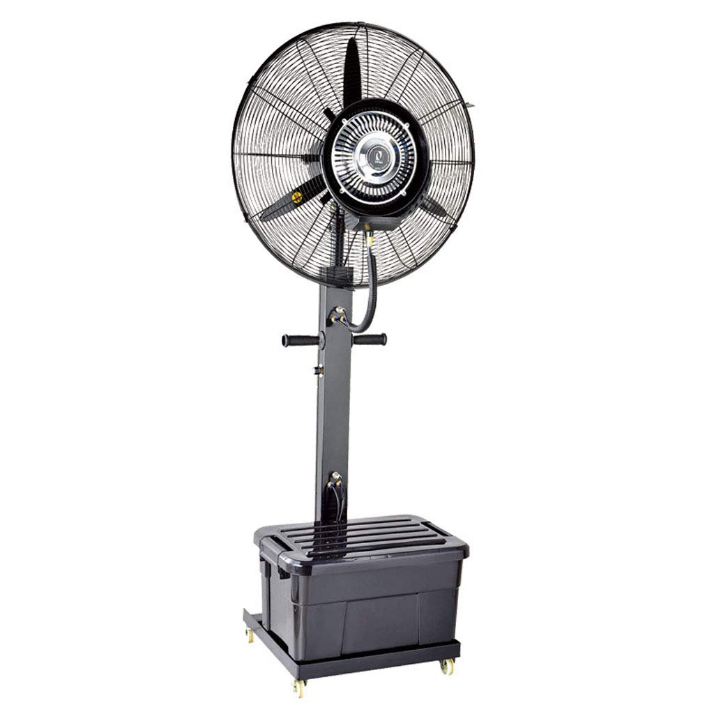 Floor-Standing Electric Fan Industrial Misting Spray Fan Factory Cooling Swing Commercial Atomization Fan High Power Indoor/Outdoor - Fixed Height 65/75cm by LLZ-Fan