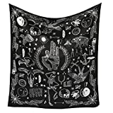 Jeteven Polyester Hanging Tapestry Wall Hanging Blanket Bedspread Beach Towels Picnic Mat Home Decor 165x148cm