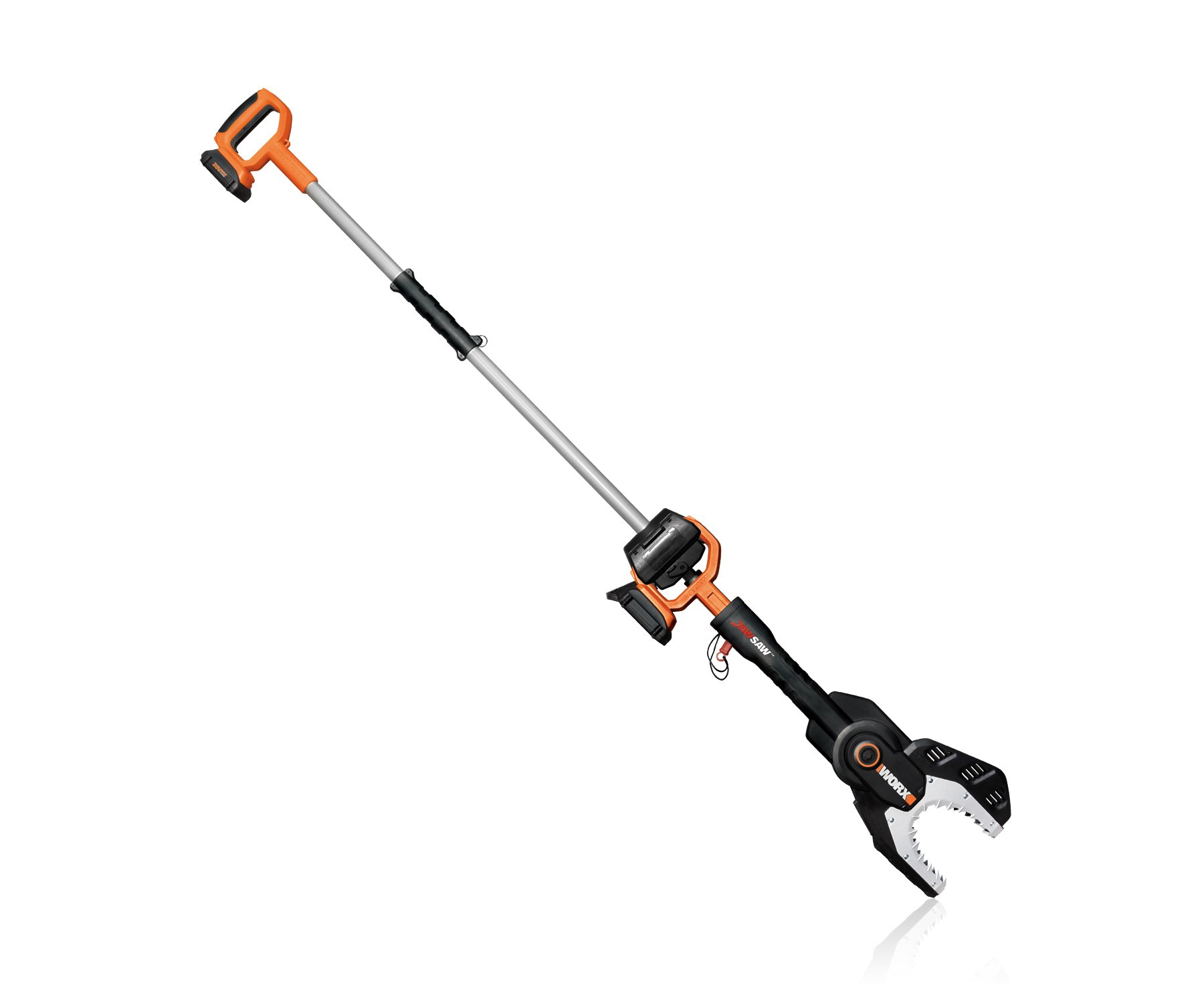 WORX WG321 20-volt Max Lithium Cordless Chainsaw with Extension Pole, Battery and Charger Included