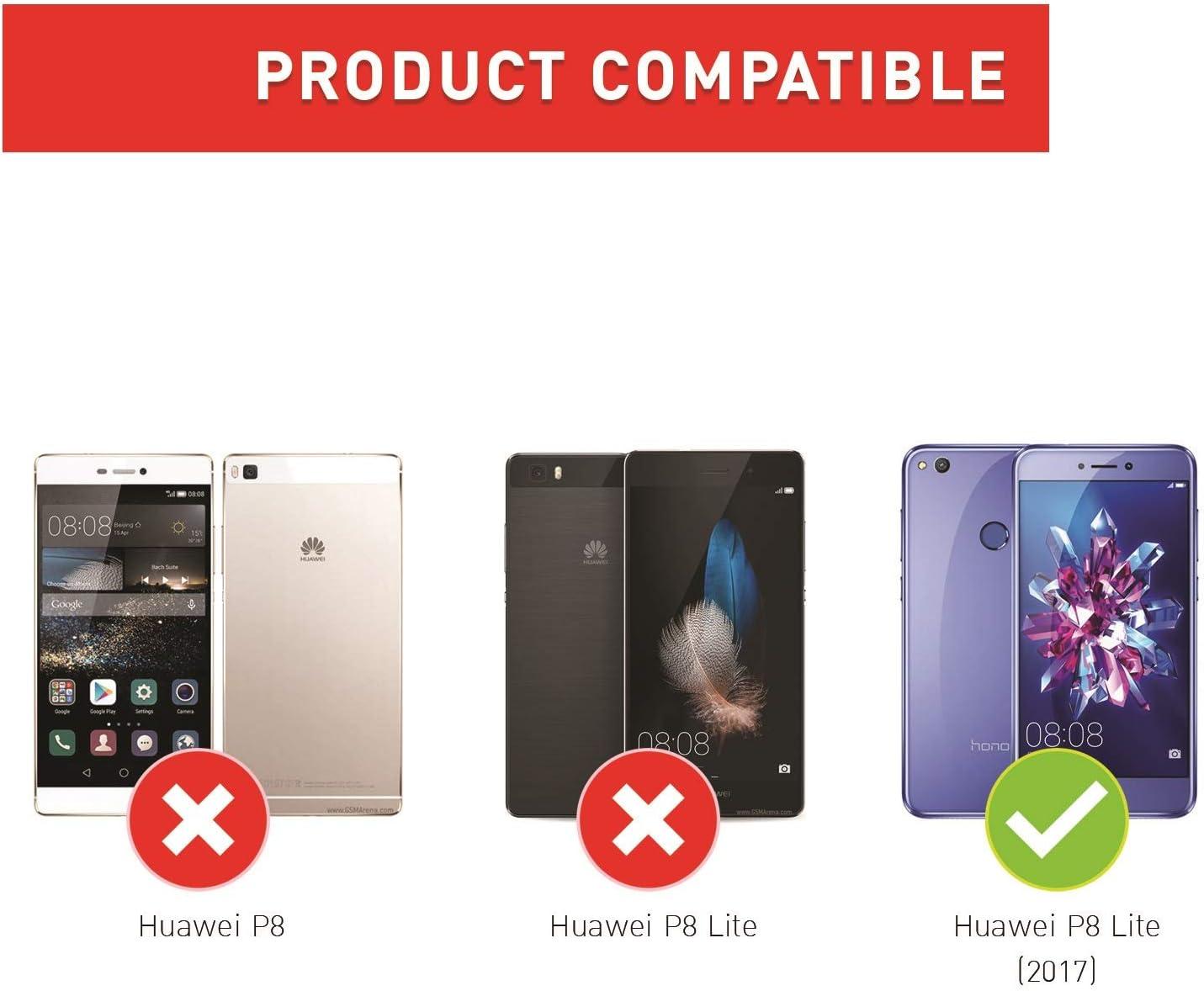 BEZ Funda Huawei P8 Lite 2017, Carcasa Compatible para Huawei P8 Lite 2017, Libro de Cuero con Tapas y Cartera, Cover Protectora con Ranura para Tarjetas y Billetera ...