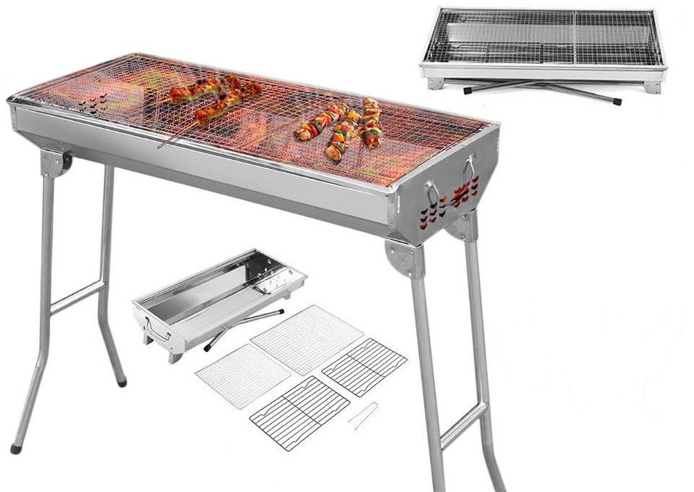 Good concept Barbecue Grill Stove Shish Kabob Stainless Steel BBQ Camping Fold Charcoal Patio Foldable Picnic