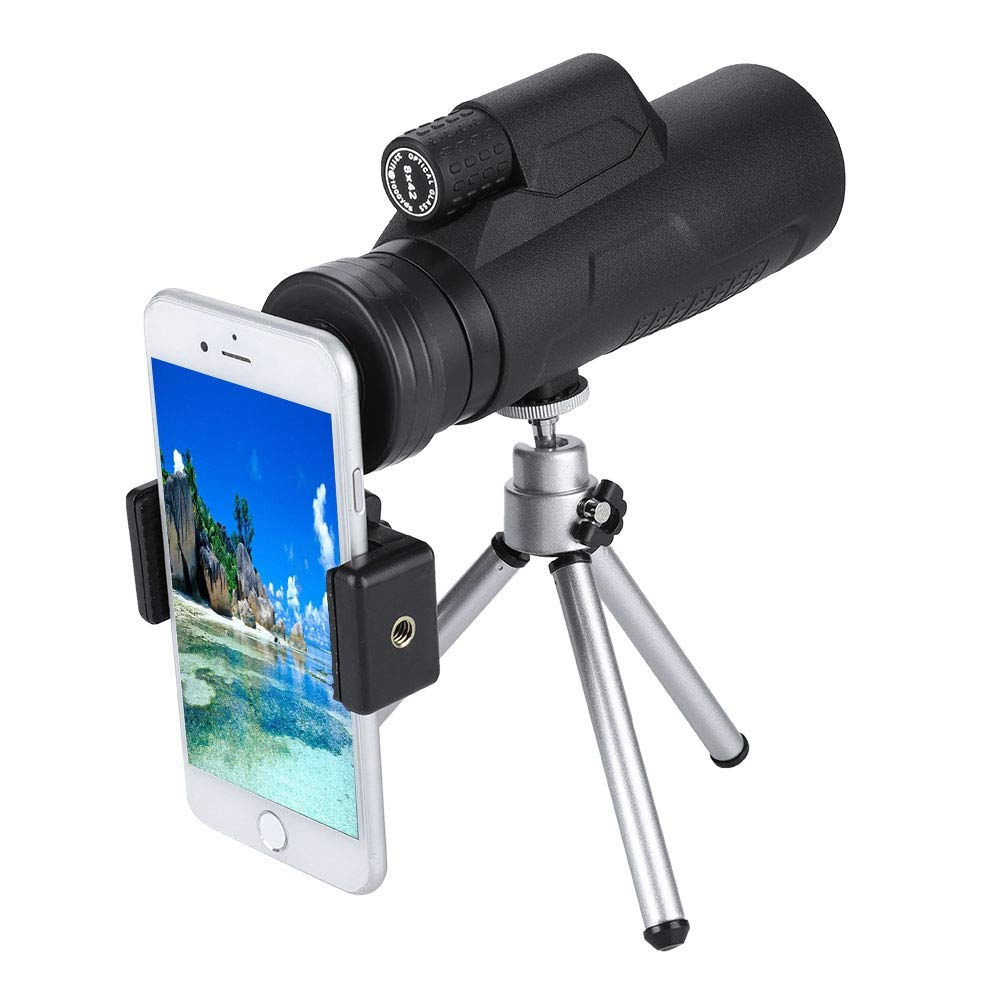 ASHATA Mobile Phone Lens, 40x Zoom Phone Telescope Telephoto Lens 9.5km Vision Long Distance Taking,More Colorful Phone Telescope with Tripod,Support for Smartphone,High Transparency by ASHATA