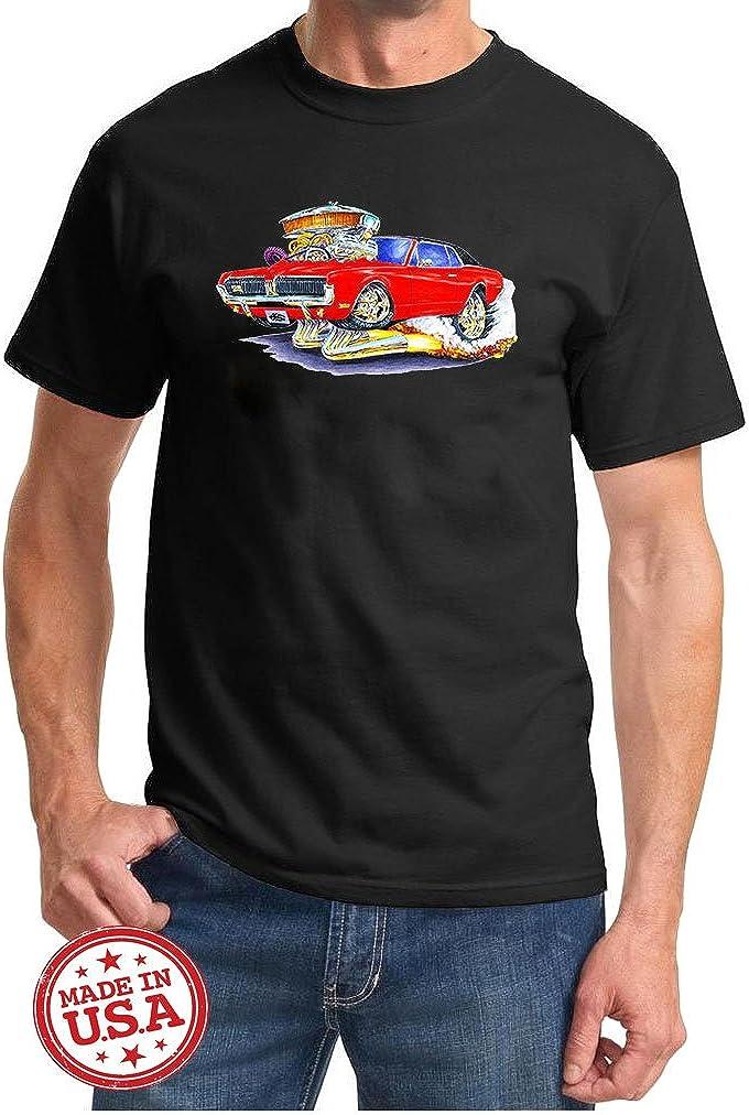 1967 1968 Mercury Cougar Cartoon Muscle Car Design Tshirt